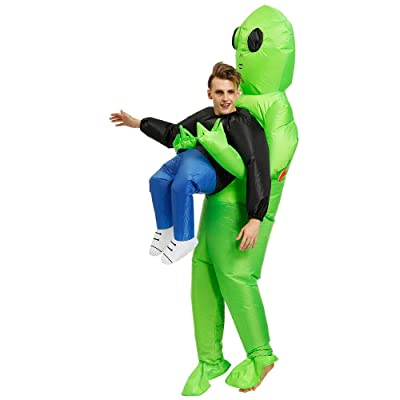 Akiimy Pick Me Up Inflatable Blow Up Costume for Halloween Costume Party Decorations/Cosplay Fancy Halloween Party Birthday Cosplay Fancy Dress up Suit (Alien ET): Toys & Games