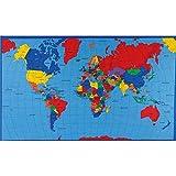 WORLD MAP ~ Baby Blanket