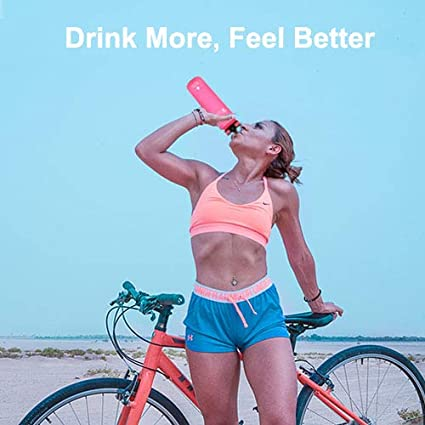 32 oz Motivational Water Bottle with Fruit Infuser /& Cleaning Brush Favofit Water Bottle with Time Marker Reusable /& BPA Free Tritan Water Bottle for Sports /& Fitness