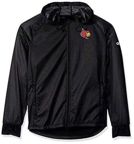 NCAA Louisville Cardinals Adult Women Team Logo Climastorm Full Zip Jacket, Medium, Black