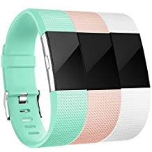 For Fitbit Charge 2 Bands, Vancle Replacement Wristbands Soft Comfortable Accessory Strap for Fitbit Charge 2 Band / Fitbit Charge 2 Small Large, No Tracker