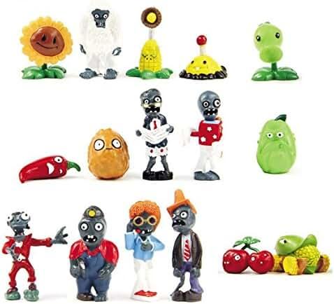 BIGOCT 16 X Plants vs Zombies Toys Series Game Role Figure Display Toy PVC Gargantuar Craze Dave Dr. Zomboss Action Figure