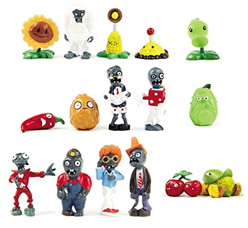 Oliasports 16 X Plants vs Zombies Toys Series Game Role Figure Display Toy PVC Gargantuar Craze Dave Dr. Zomboss Action Figure -