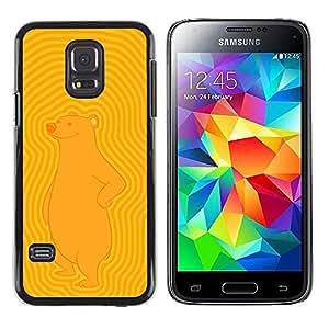 LECELL--Funda protectora / Cubierta / Piel For Samsung Galaxy S5 Mini, SM-G800 -- Enfriar oso impresionante --
