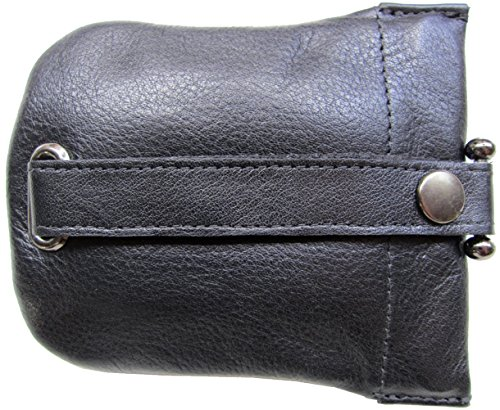 (Josephine Osthoff Men's Leather Drop Key Case - black -)