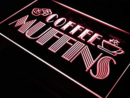 ADVPRO Cartel Luminoso i111-r Open Coffee Shop Muffins Cafe ...
