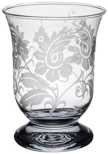 German Crystal Lamp - Villeroy & Boch Helium Lamp with Floral Ornament, 15.5 cm, Glass, Transparent
