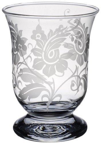 - Villeroy & Boch Helium Lamp with Floral Ornament, 15.5 cm, Glass, Transparent
