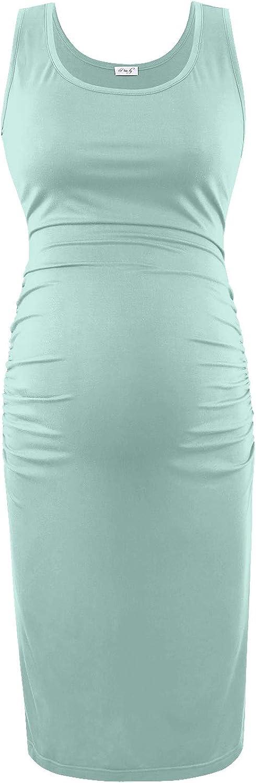 Daily Wear /& Baby Shoewr Maternity Bodycon Dress Soft Breathable Dress Baby Bump Sleeveless Dress