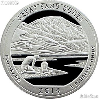 2014 S America the Beautiful Colorado Great Sand Dunes Proof Quarter PF1
