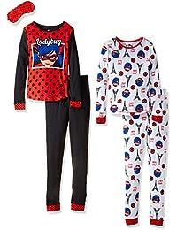 Miraculous Ladybug girls Big Girls 4pc Cotton Sleepwear Set