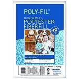 Fairfield Poly-Fil Premium Polyester Fiber, White, 1 Bag, 12-Ounce