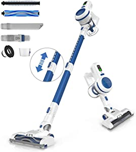 ORFELD Cordless Vacuum, Stick Vacuum Cleaner 4 in 1 with 17Kpa Super Suction, Ultra-Lightweight & Quiet Handheld Vacuum for Home Hard Floor Carpet Car Pet