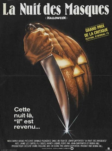 Halloween Movie Poster (27 x 40 Inches - 69cm x 102cm) (1978) French -(Jamie Lee Curtis)(Donald Pleasence)(Nancy Loomis)(P.J. Soles)(Charles Cyphers)(Kyle Richards)]()