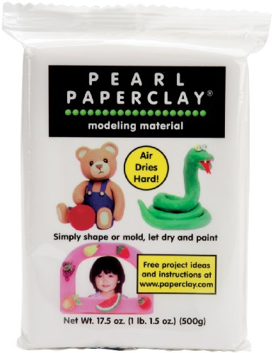 White Paper Clay - Creative Paperclay Pearl Paper Clay for Modeling Compound, 16-Ounce, White