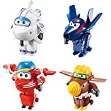 "Super Wings Transform-a-Bots 4 Pk – Flip /Todd /Agent Chase/Astra 2"" Scale"