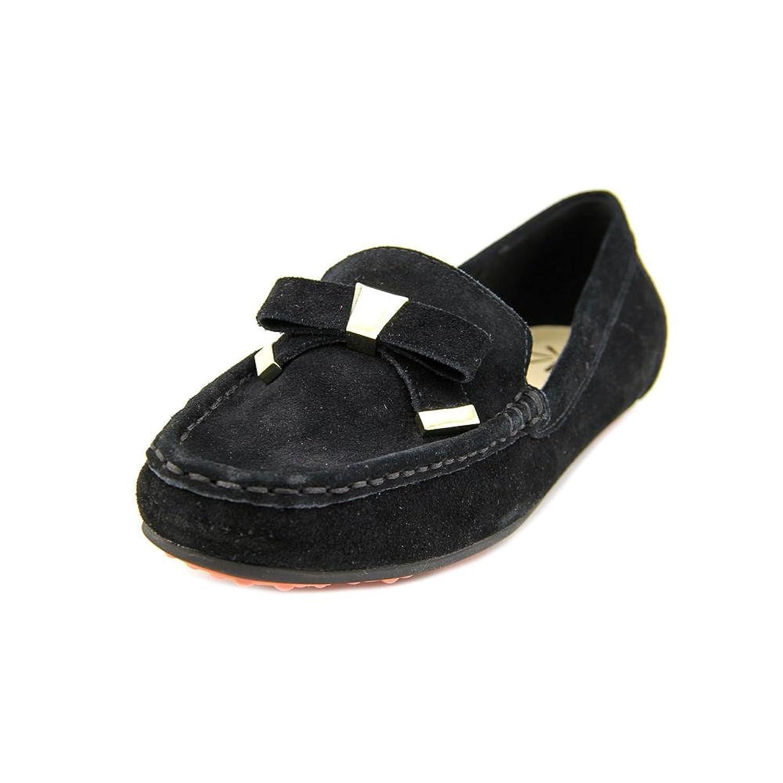 Isaac Mizrahi Alia Women Square Toe Suede Black Loafer