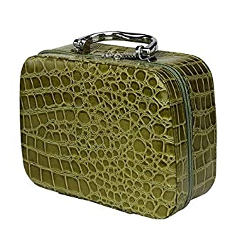 Amazon.com : Stone Pattern Cosmetic Leather Bag - Green : Beauty