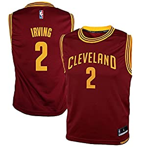 OuterStuff Kyrie Irving Cleveland Cavaliers NBA Youth Red Burgundy Road Replica Jersey
