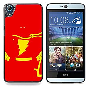 "Qstar Arte & diseño plástico duro Fundas Cover Cubre Hard Case Cover para HTC Desire 826 (Flash Superhéroe"")"