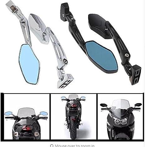 Motobiker 1Pair Universal Motorcycle Mirror Chrome Side Rear View Mirrors For Yamaha Suzuki Kawasaki Harley Custom Black