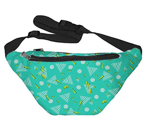 Funny Guy Mugs 80's Pattern Fanny Pack (80s Guys Costume)