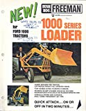 1973 Ford & Bush Hog Freeman Tractor Loader Brochure
