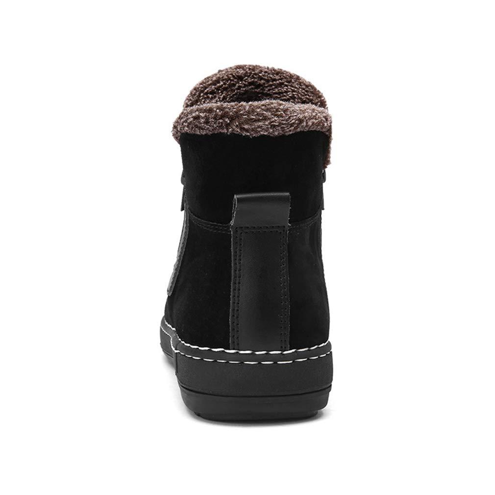 Herrenstiefel, Herbst Winter-Leder-Set von Martin-Stiefeln mit mit mit spitzer, schlanker Passform Warm halten Chelsea-Stiefel aus Baumwolle (Farbe   Schwarz, Größe   41) 9b492f