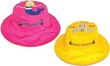 Motivo Sirena e Castello di Sabbia Cappellini da Bambino con Protezione Raggi UV Luvali
