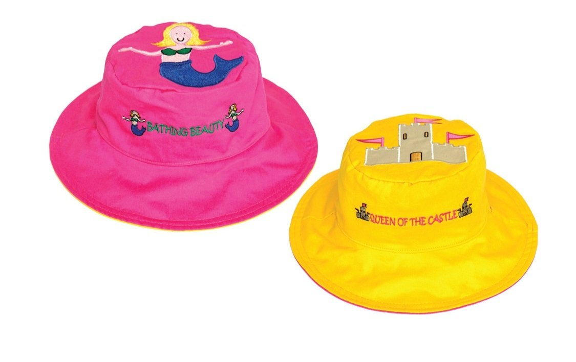 Luvali Convertibles LCKDS2LIC I-Scream-Cupcake Reversible Kids Hat Large FlapJackKids KD-S2-IC/2Y-4Y