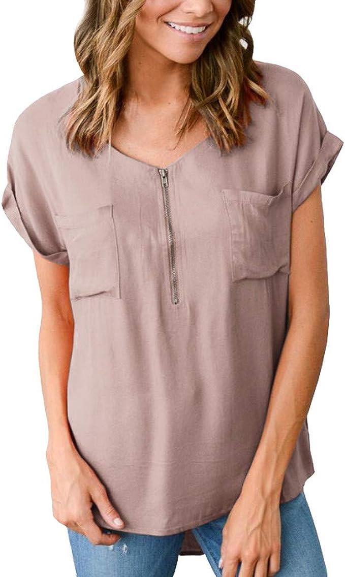 Camiseta de Verano para Mujer Overdose, Color sólido, Cuello ...