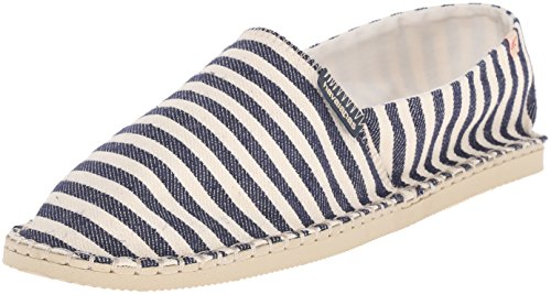 Havaianas Men's Origine Navy Espadrille Sandal,White/Blue,41 BR (9 M US)