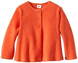 Zutano Baby Girls\' Cozie Fleece Swing Jacket, Mandarin, 24 Months