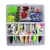 victoronlionshop Fishing Tackle Lots,Fishing Baits Kit Set With Free Tackle Box,For Freshwater Trout Bass Salmon with Fishing Plier