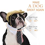 FOMATE Dog and Puppy Costume with Hair Piece Wig and Tie. Make Animals Great Again with This Wacky Political Satire Costume Perfect for Gags, Parties, and Events