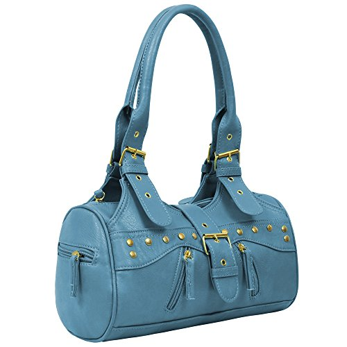 Handbag Designer Miami Shoulderbag Ladies Tote Teal Leather Womens Faux Y4fqp