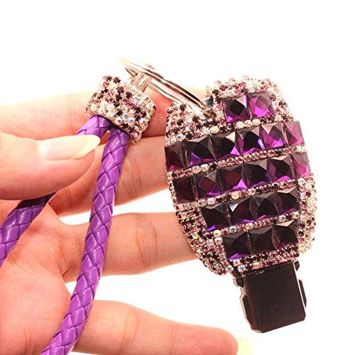 YIKA-Benz-diamond-key-shell-Car-Key-Case-Cover-Holder-Pouch-Remote-Key-Chains-Key-Bag-For-Mercedes-Benz-C-E-S-M-CLS-CLK-GLK-GL-Class-etcpurple