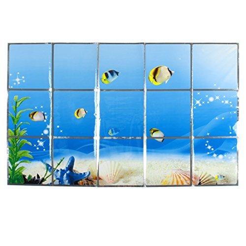 eDealMax Undersea World Cuisine Motif amovible Fentre auto-adhsif autocollant mural tanche  l'huile 75 x 45 cm
