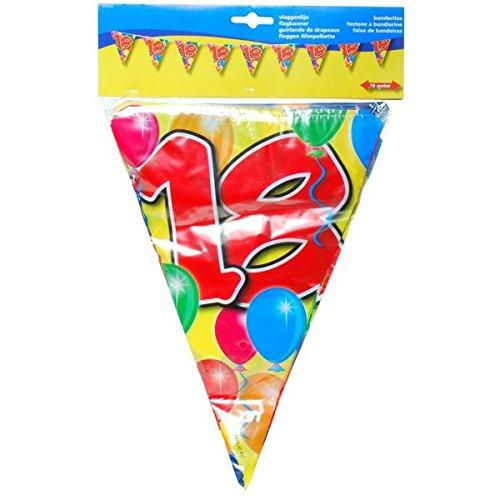 Multicolor Cumpleaños guirnalda (18 años para fiestas ...