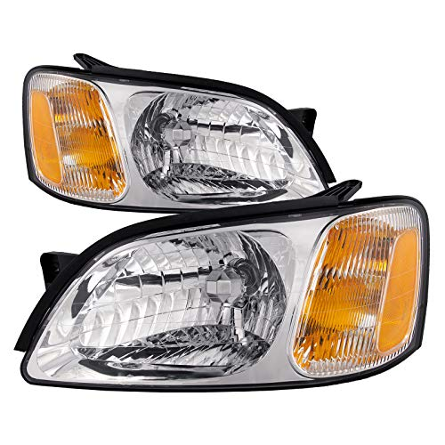 HEADLIGHTSDEPOT Compatible with Subaru Legacy Brighton L Model New Headlights Headlamps Set