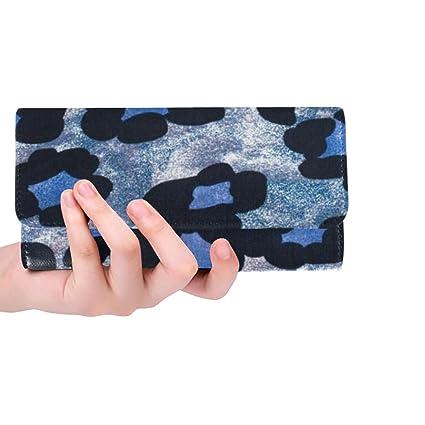 Único Personalizado Azul Negro Leopardo Estampado de ...