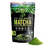 Classic Culinary Matcha Green Tea Powder - 100% Pure Vegan Matcha with 1500+ Antioxidants - USDA Organic Green Superfood Powder for Baking, Smoothies, & Matcha Tea Lattes by Matcha Organics, 4oz