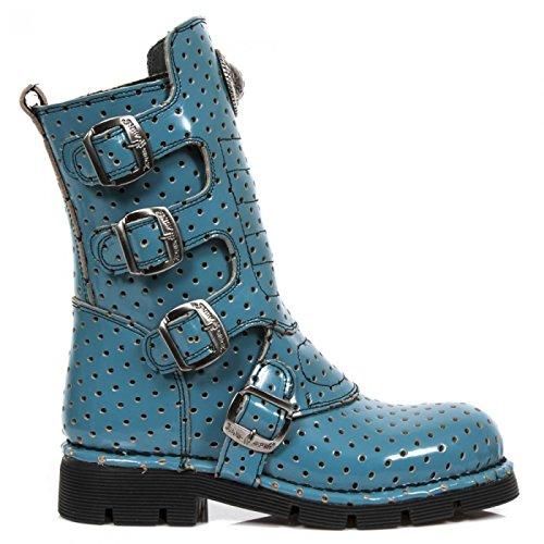 Nuovi Stivali Di Roccia M.1471-r14 Gotico Hardrock Punk Unisex Stiefel Blau