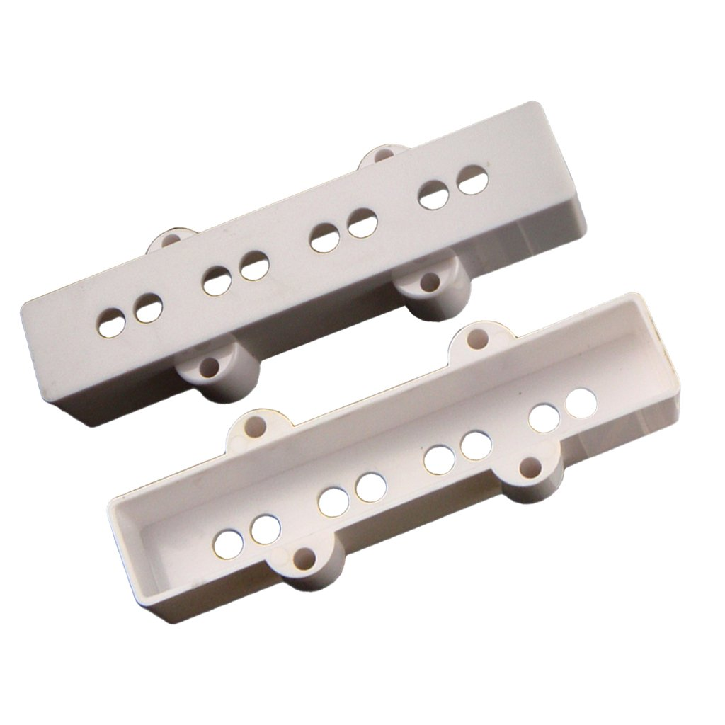 MagiDeal 2 Pieces 4 String Jazz Bass Pickup Covers Neck& Bridge for JB Bass Guitar Parts non-brand HNQHX0952USA