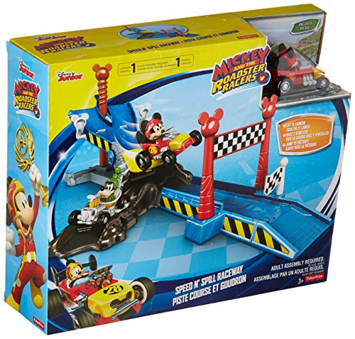 Boys Speed Racer - Fisher-Price Disney Mickey and The Roadster Racers Speed N' Spill Raceway