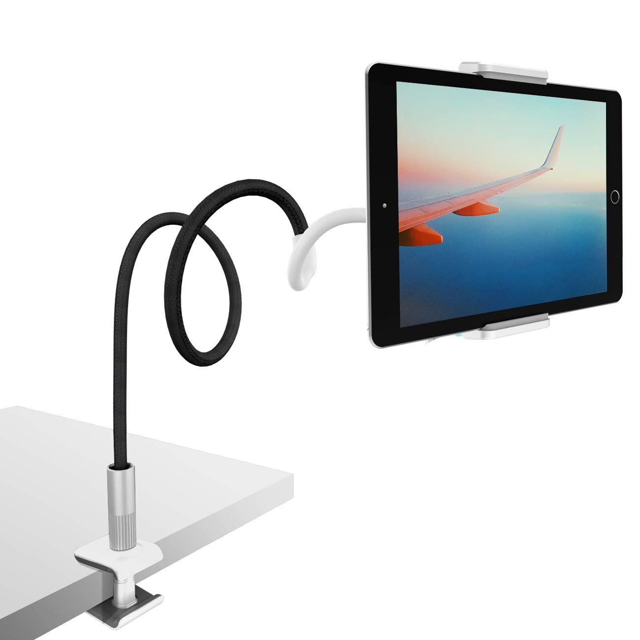 Gooseneck Tablet Holder, Lamicall Tablet Mount : Flexible Arm Clip Tablet Stand Bed Desk Mount Compatible with iPad Pro Mini Air, Samsung Galaxy Tabs More 4.7-10.5 Cell Phones and Tablets