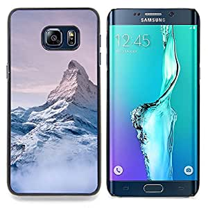 Stuss Case Funda Carcasa protectora - Snow Mountain Sky High Blanc Bleu - Samsung Galaxy S6 Edge Plus/S6 Edge+ G928