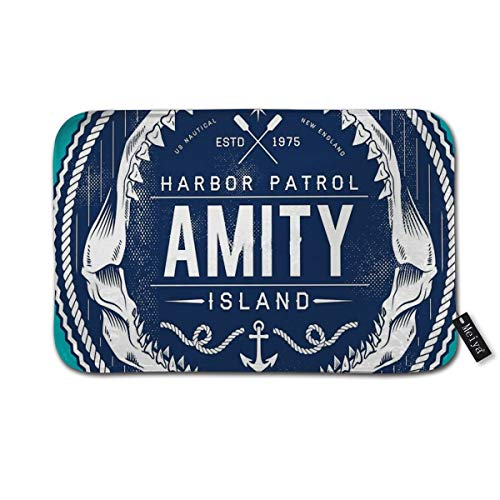 Amity Island Harbor Patrol Doormat Entrance Mat Floor Mat Rug Indoor/Front Door/Bathroom/Kitchen and Living Room/Bedroom Mats 23.6