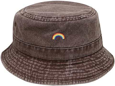 City Hunter Bd2020 Rainbow Washed Summer Bucket Hat Multi Colors