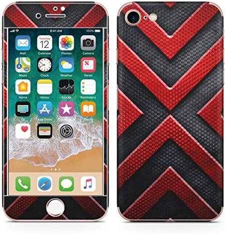 igsticker iPhone SE 2020 iPhone8 iPhone7 専用 スキンシール 全面スキンシール フル 背面 側面 正面 液晶 ステッカー 保護シール 013285 かっこいい 黒 バツ